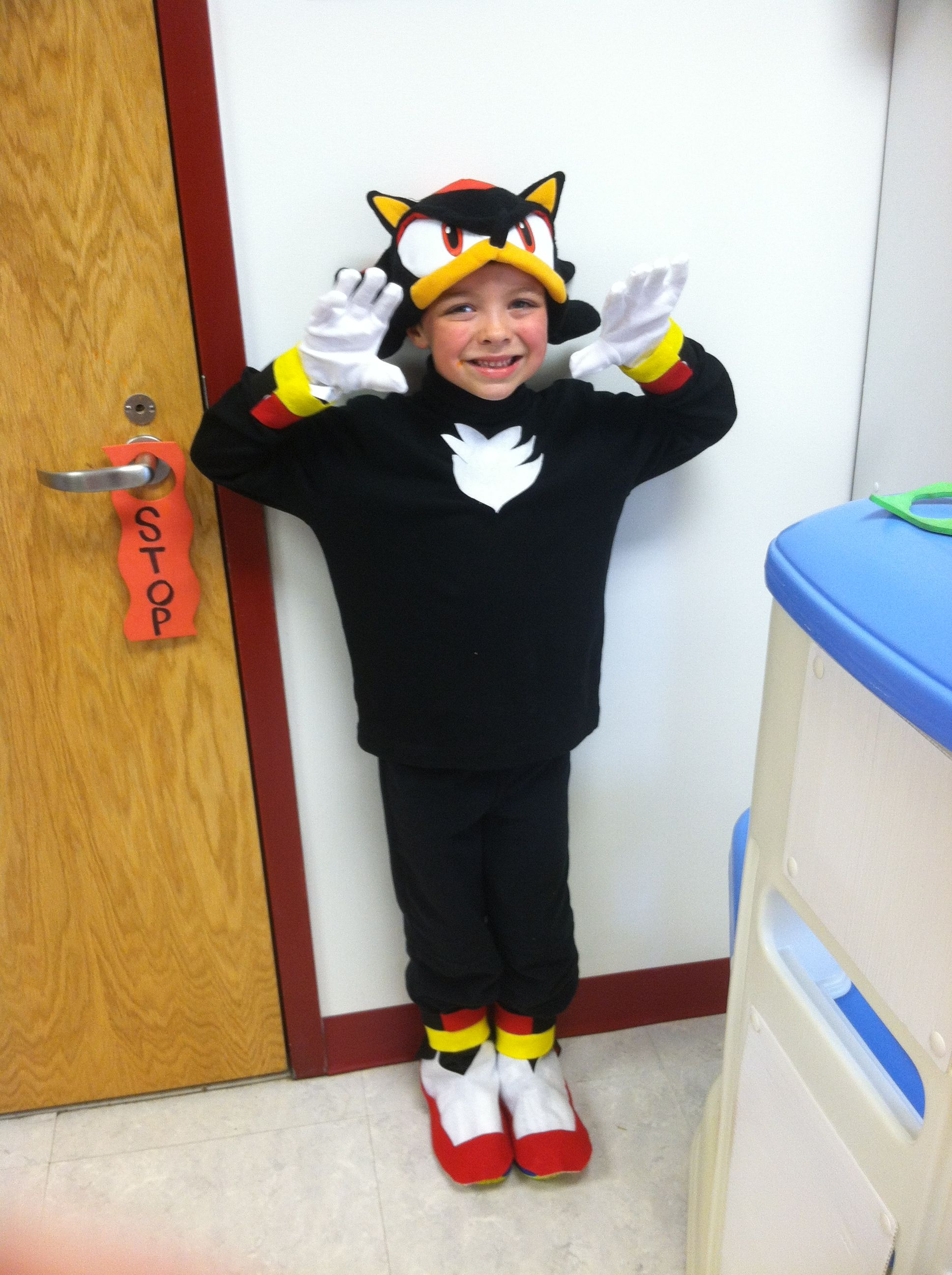 c423612b63c DIY Halloween costumes  Sonic Shadow. My son wanted to be Shadow so badly  but I couldn t find a costume anywhere. So I improvised   designed one ...