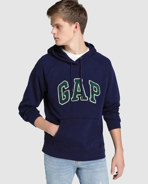 Sudadera deportiva de hombre Gap azul con capucha  76191cb6bc2