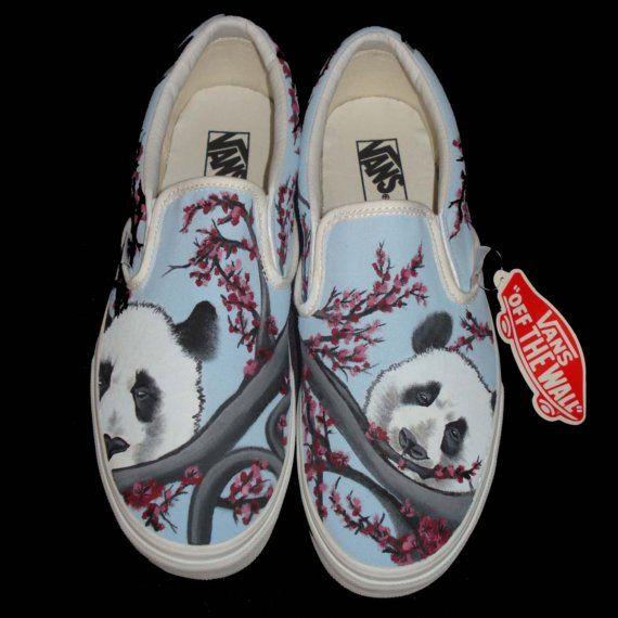 Panda'sRuby Toms Hand Vans Slippers Painted RLqjc354A