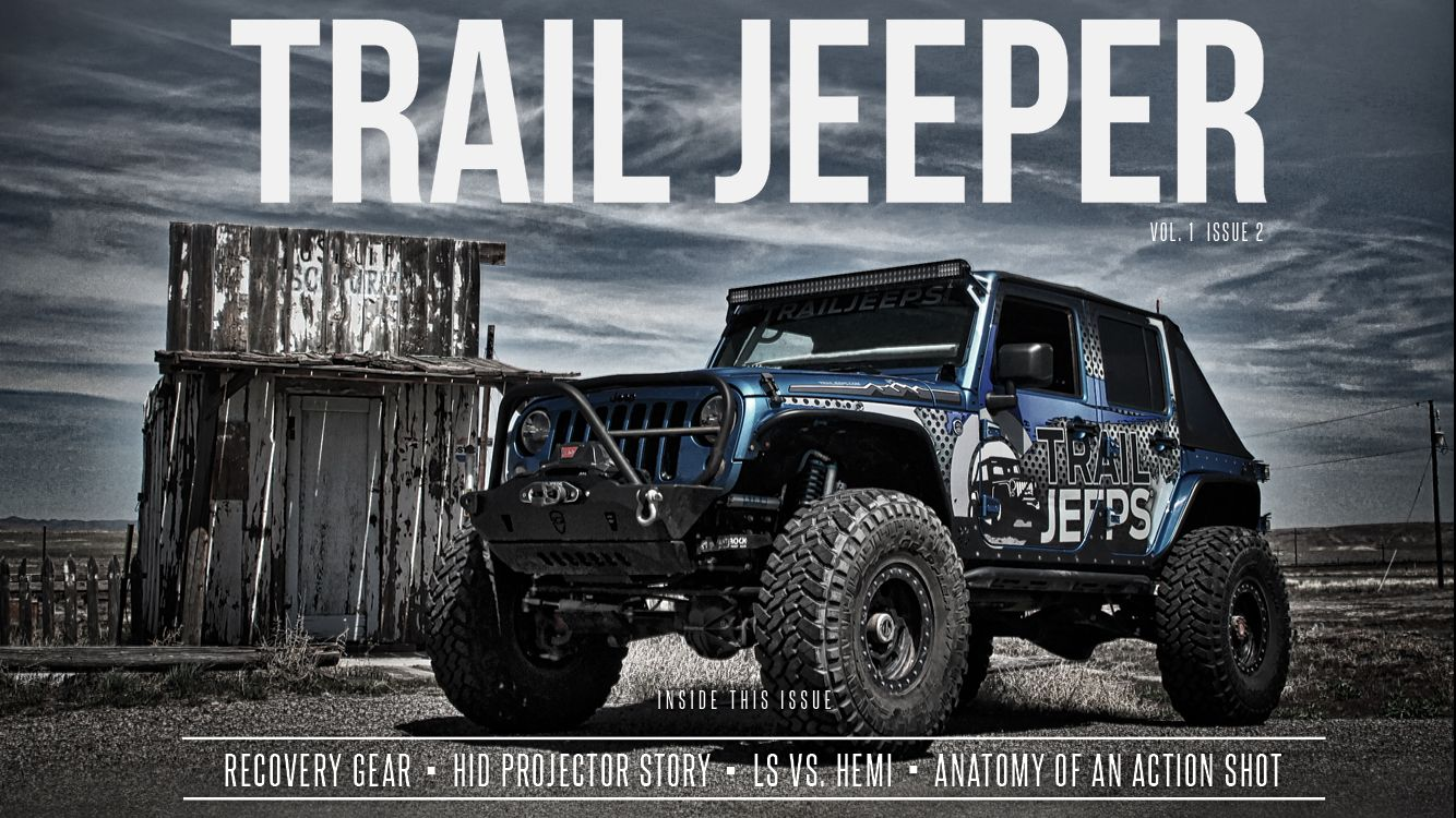 El jefe on the cover of Trail Jeeper magazine. Issue 2