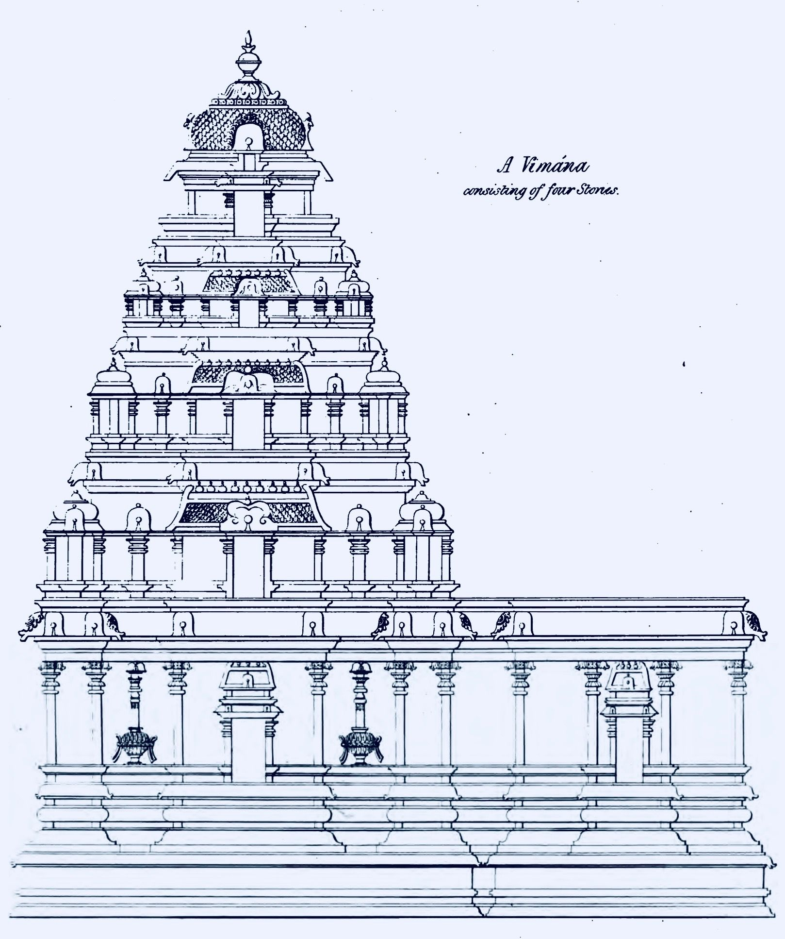 Pencil Drawings Temple
