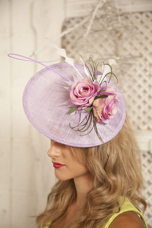 Lilac hat with vintage roses. #millinery #milliner. Hats hand made in England. Full collections at www.jessikahill.com