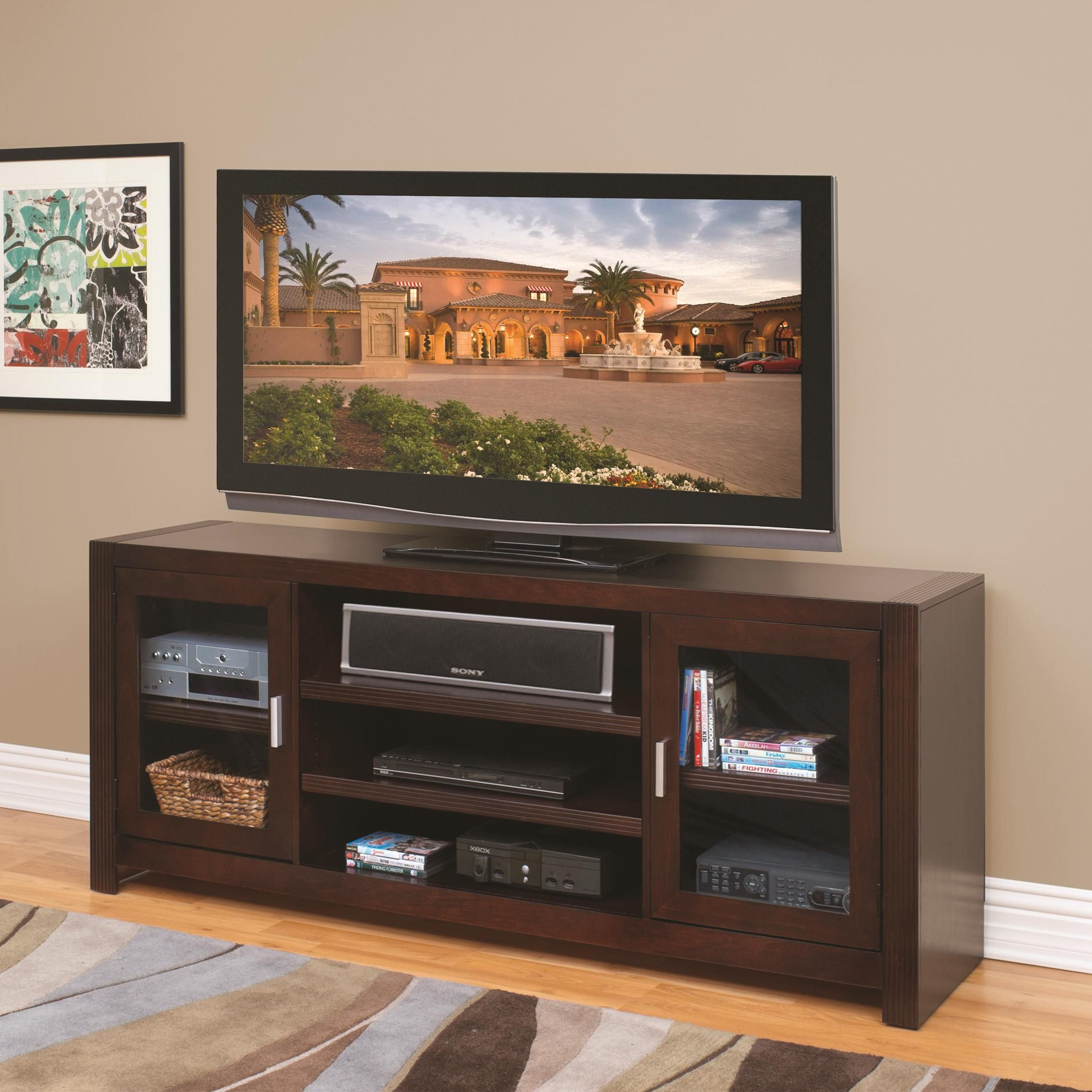 Carlton 72 Inch Wide Tv Console By Kathy Ireland Home By Martin