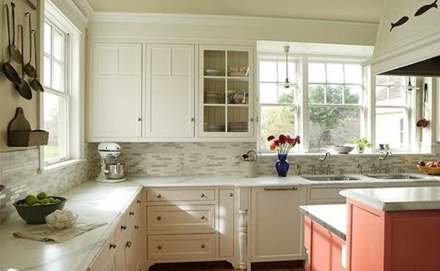 Hervorragend Express Yourself Auf Weiß Küche Kabinett Backsplash Ideen   Küchen