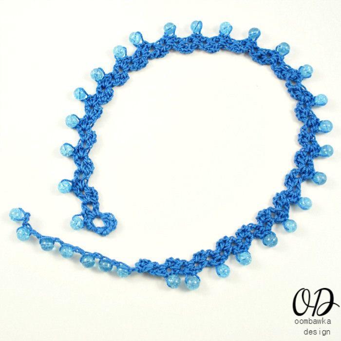 Sweetheart Beaded Choker Crochet Pattern | Crochet necklace, Crochet ...