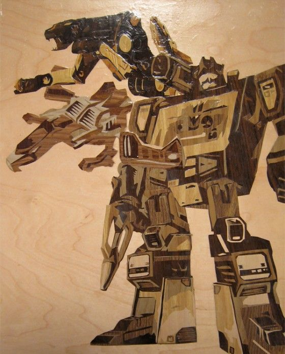 awesome depiction of Soundwave and LaserBeek