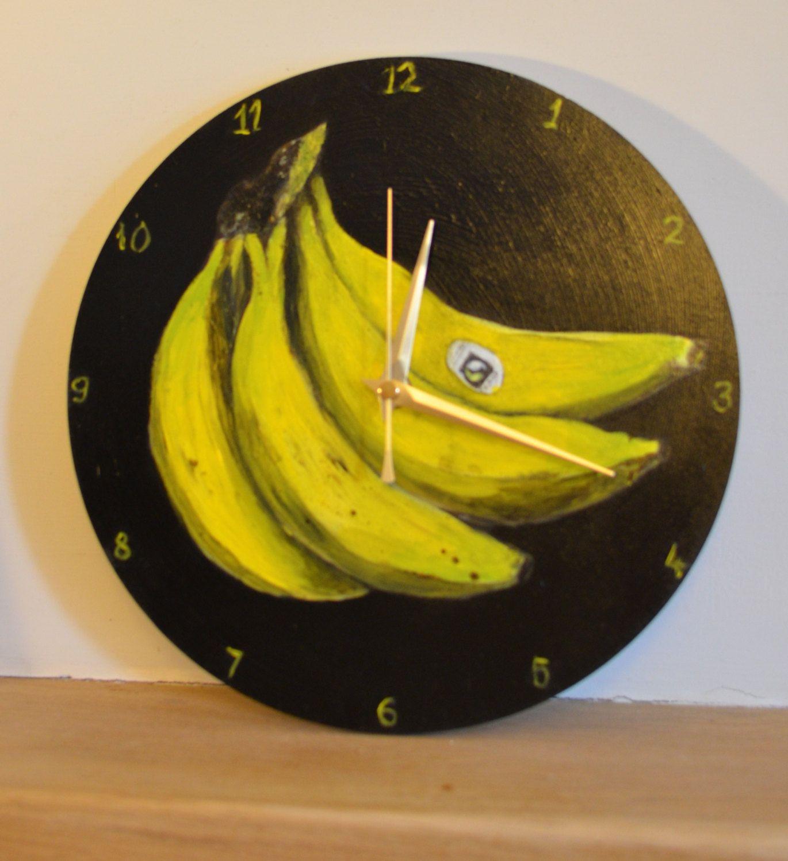 Banana Clock! Hand made, non-ticking art clock, Practical art ...