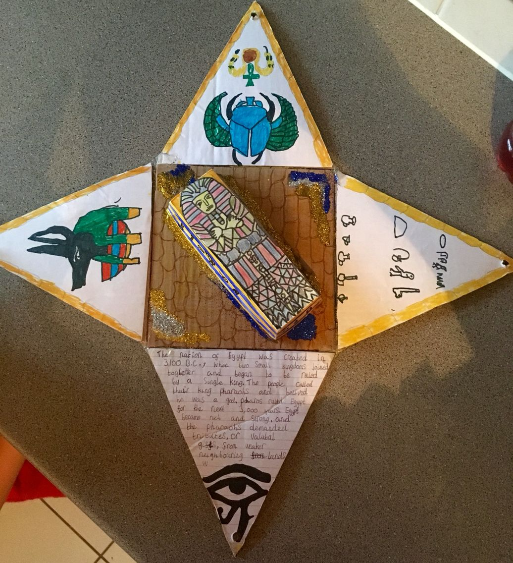 School Project Pyramid Ancient Egypt Crafts Ancient Egypt