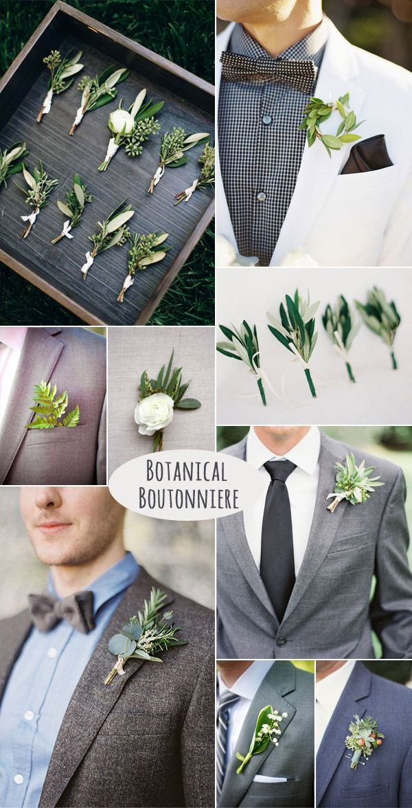 2017 2018 trends easy diy organic minimalist wedding ideas diy stylish botanical groom boutonniere solutioingenieria Image collections