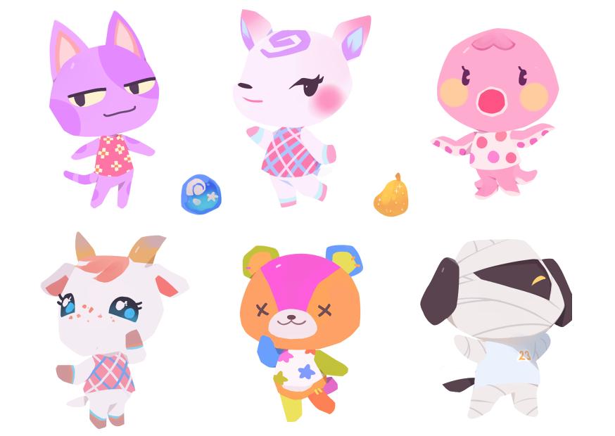 Ac Villager Sticker Sheet 3 Animal Crossing Fan Art Animal Crossing Villagers Animal Crossing Characters