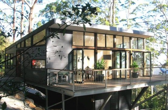 9 Points House Steel House On Problematic Site Digsdigs Steel House House Exterior Building A House