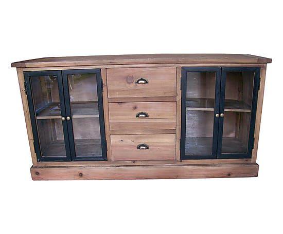 Buffet bois et noir. cheap meuble bois et noir petit buffet portes