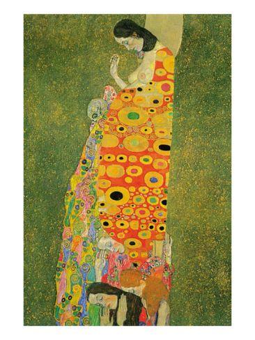Abandoned Hope Premium Poster by Gustav Klimt at Art.com