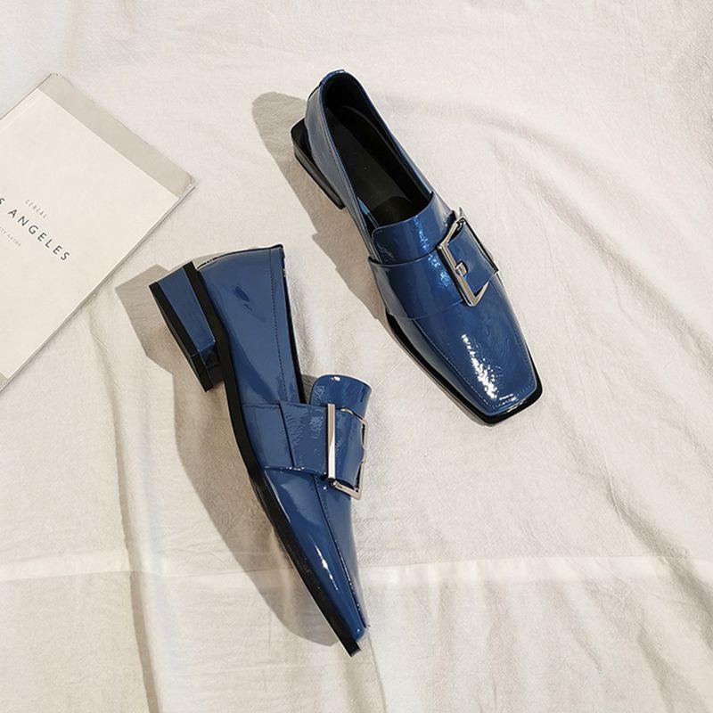 Chiko Beltane Square Toe Block Heels Loafer