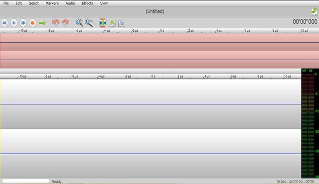 TwistedWave es un editor de audio para usar directamente desde el navegador. Podemos subir audios del disco duro, importarlos y grabarlos con el micrófono.