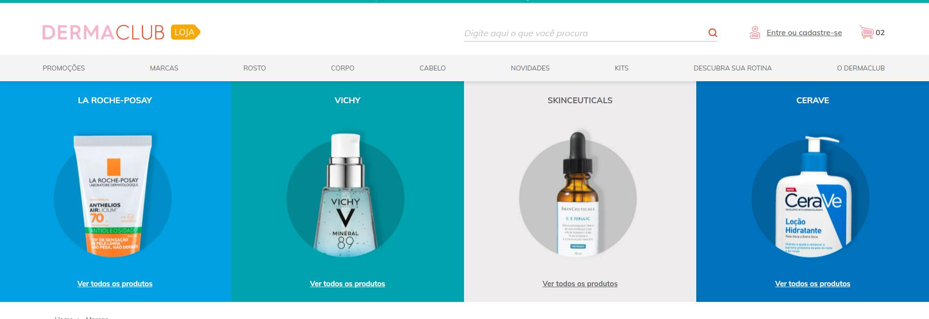 DermaClub e-commerce: La Roche-Posay, Vichy, SkinCeuticals e CeraVe