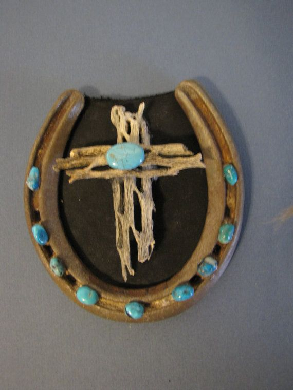 Cholla Wood Horse Shoe Turquoise Wall Hanging Etsy Finds