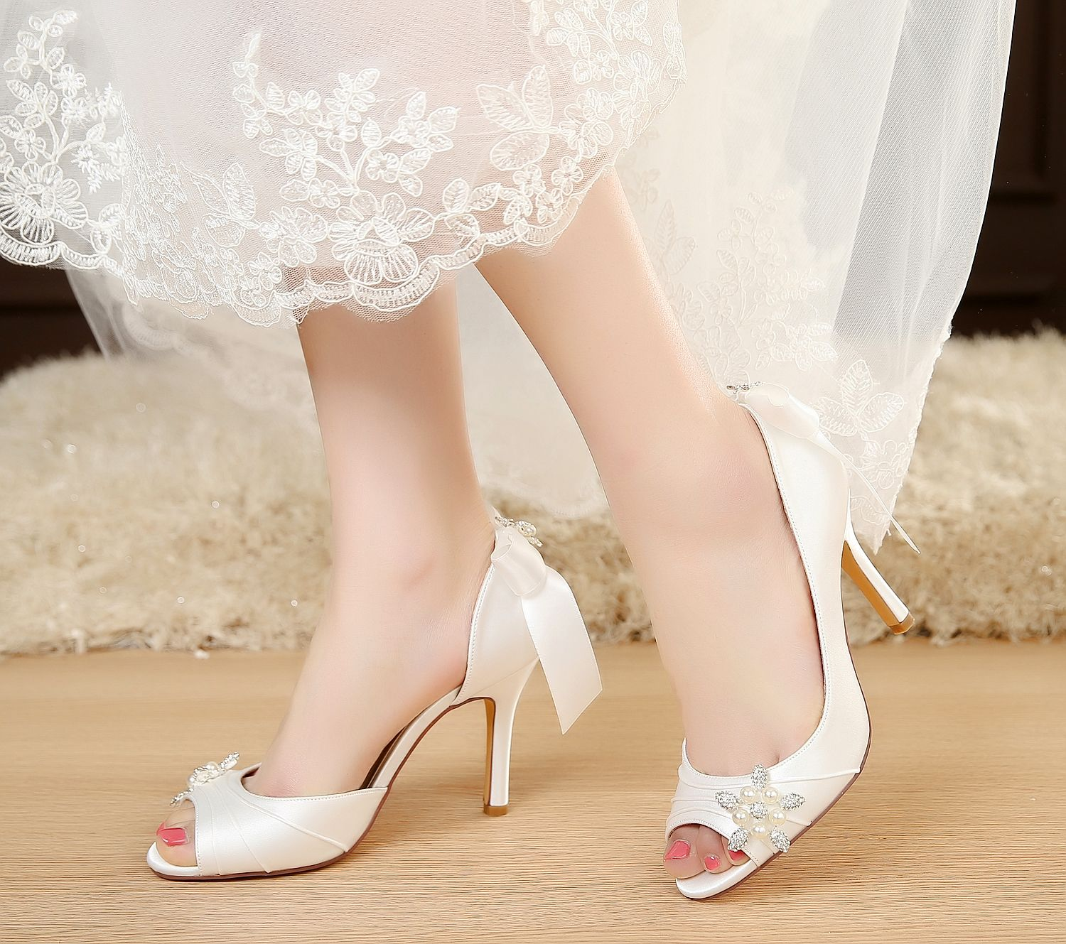 Pin By Ashley Neeley On Dream Wedding Wedding Shoes Low Heel Bride Shoes Womens Wedding Shoes
