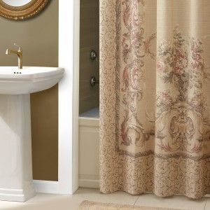 Interesting Brown Damask Shower Curtain With Images Elegant