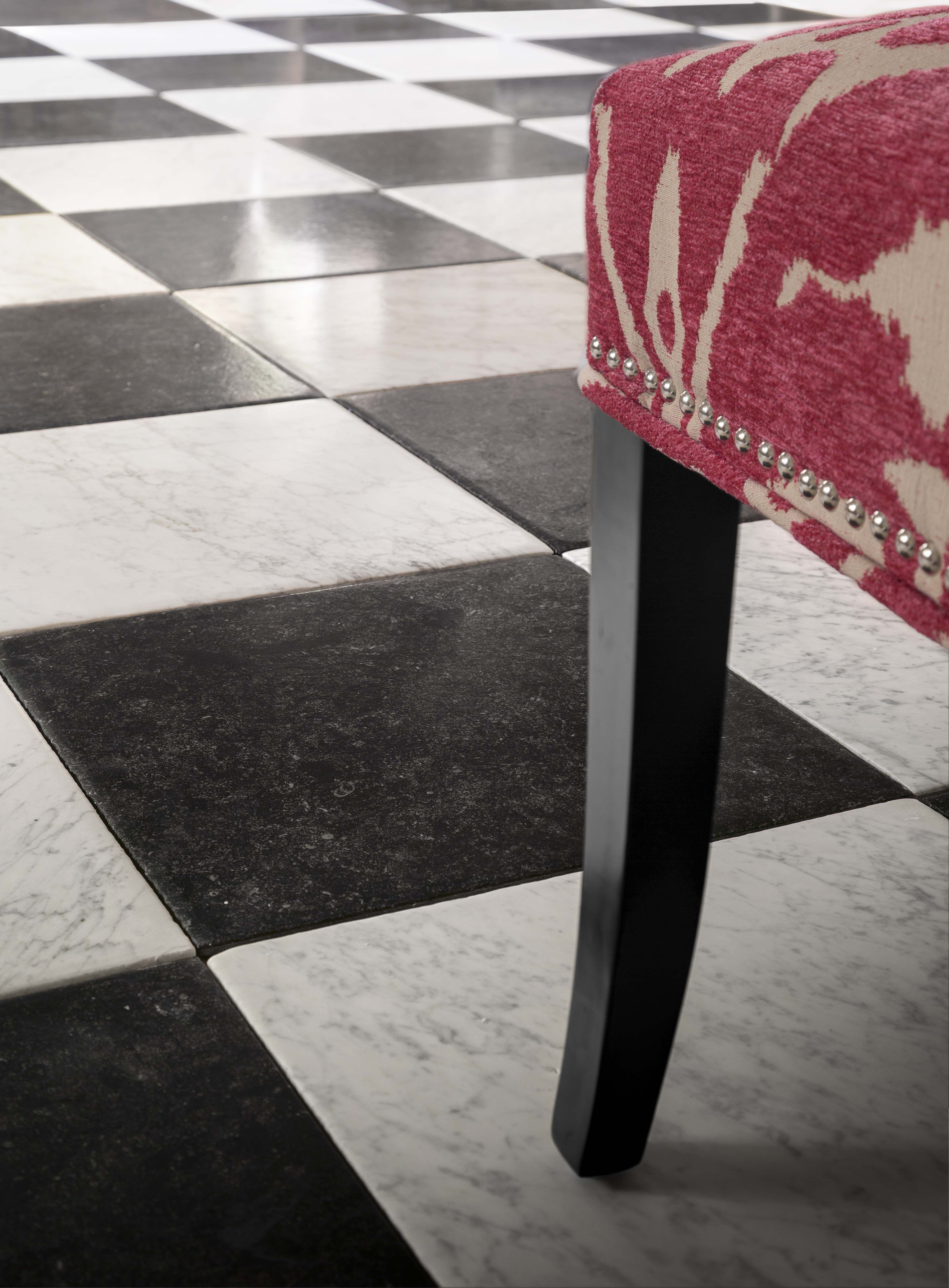 history tends to repeat itself this is a glamorous update to the retro checkerboard flooring design using odessa bla artistic tile checkerboard floor flooring