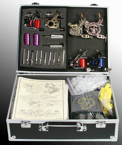 6 Gun Tattoo Machine Kit Tattoo Gun Kit By JRFOTO S-T06 Tattoo Kit ...