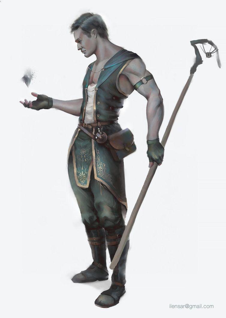 Aasimar Sorcerer male human, aasimar greyhair eyescovered paleskin sorcerer