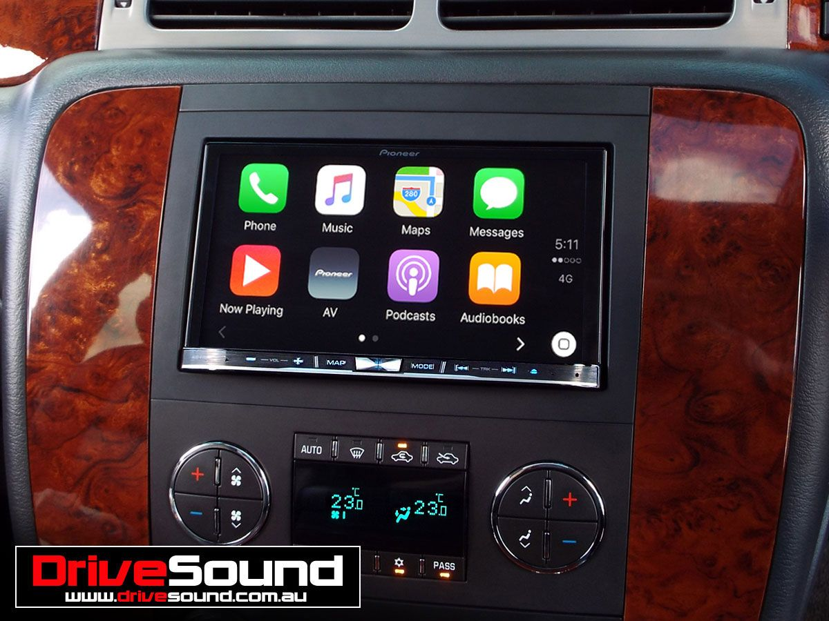 Chevrolet Silverado with Apple CarPlay installed by