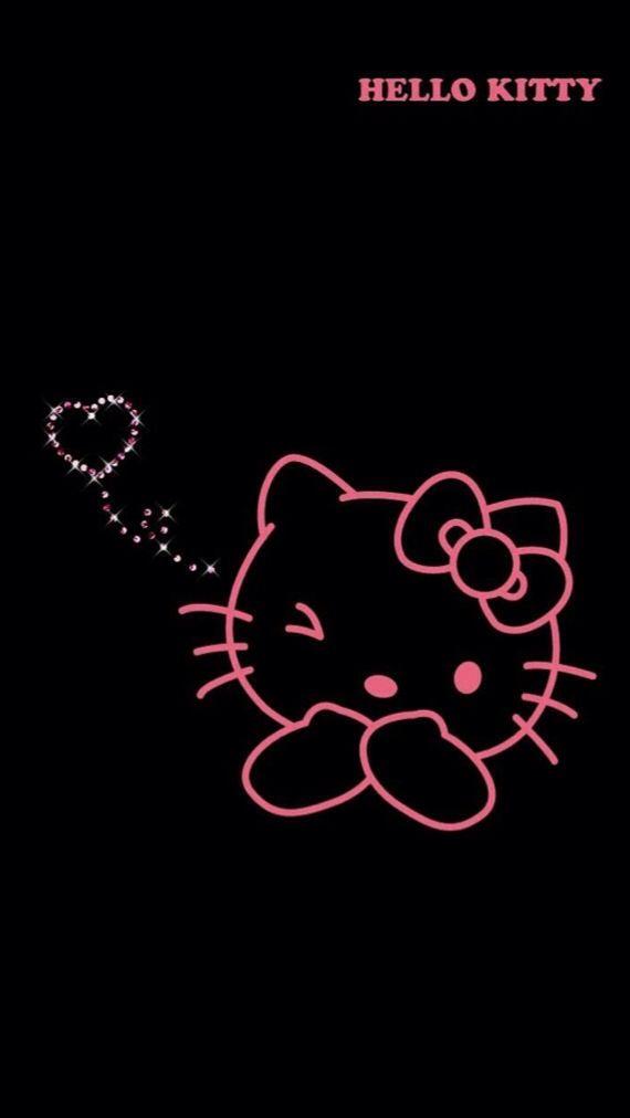 Hello Kitty Black And Pink Hello Kitty Pictures Hello Kitty Backgrounds Hello Kitty Art