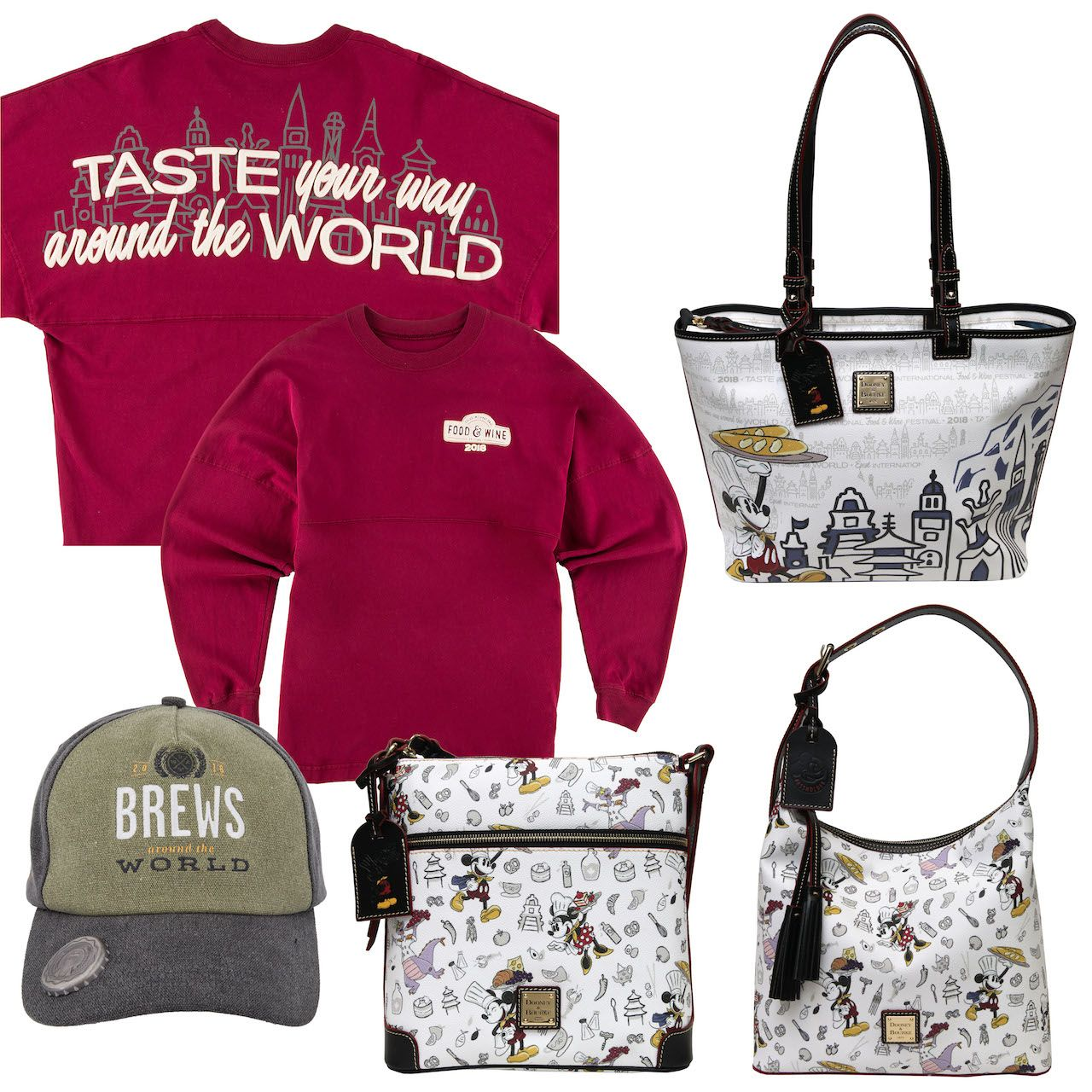 Commemorative Merchandise Mixes Function And Fun For The 2018 Epcot International Food Wine Festival Wine Festival Wine Recipes Disney World Merchandise