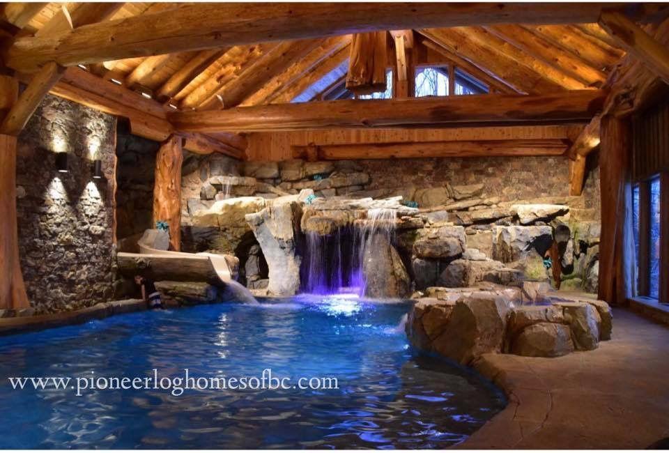 Log Home Swimming Pool Dream House Pioneer Log Homes Of Bc Massive Logs Western Red Cedar Swimming Pool House Swimming Pool Architecture Log Homes