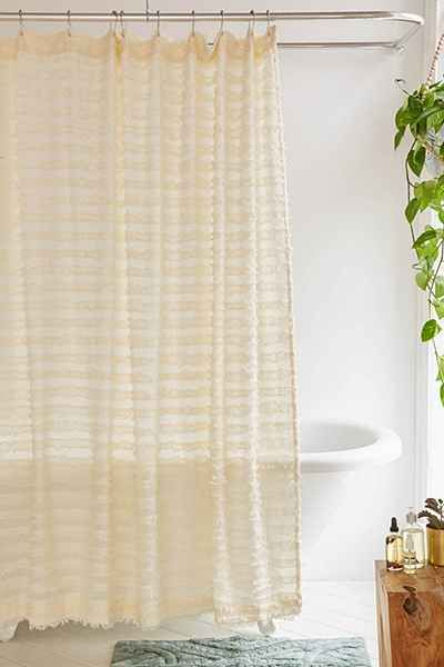 Eyelash Fringe Shower Curtain   Urban Outfitters
