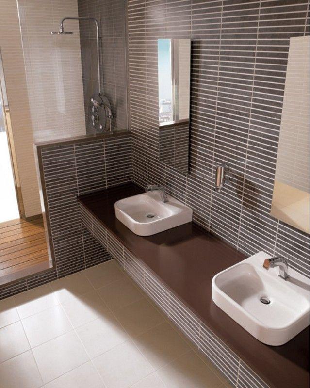 Combinar azulejos en tonos cafe buscar con google for Azulejos de cuarto de bano modernos