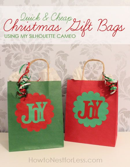 christmas goodie bag ideas - Google Search & Quick u0026 Easy Christmas Gift Bags using my Silhouette Cameo | Gift ...