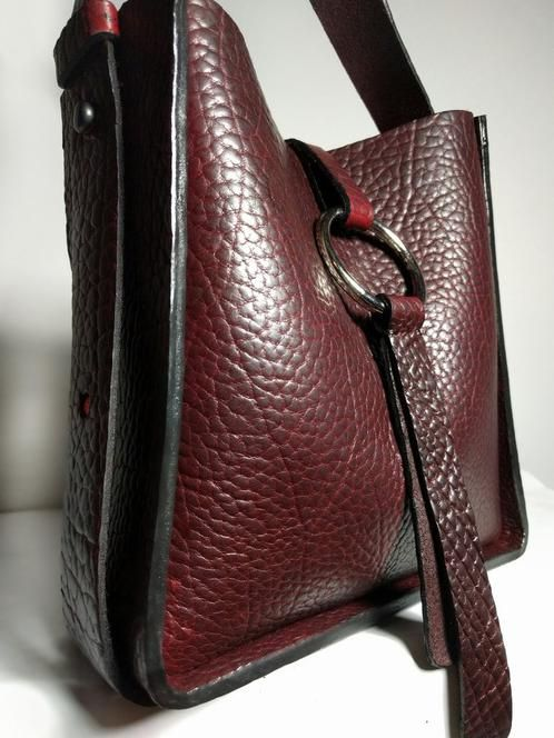 Elianai Marinel Merlot Handmade Leather Bag From Vancouver Bc Canada