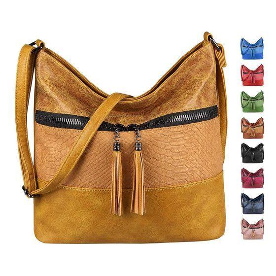 ITALYSHOP24.COM OBC Damen Tasche Shopper Crossbody