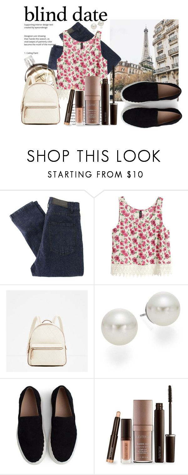 """""""#blinddate"""" by lululafitte ❤ liked on Polyvore featuring Chanel, Cheap Monday, H&M, AK Anne Klein, Chloé and Laura Mercier"""
