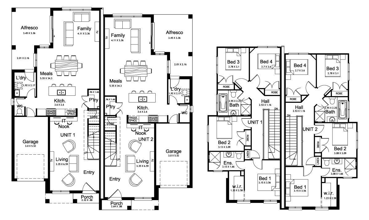 Kensington 46.4 - Duplex Level - Floorplan by Kurmond Homes - New ...