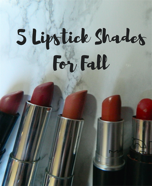5 Lipstick Shades For Fall