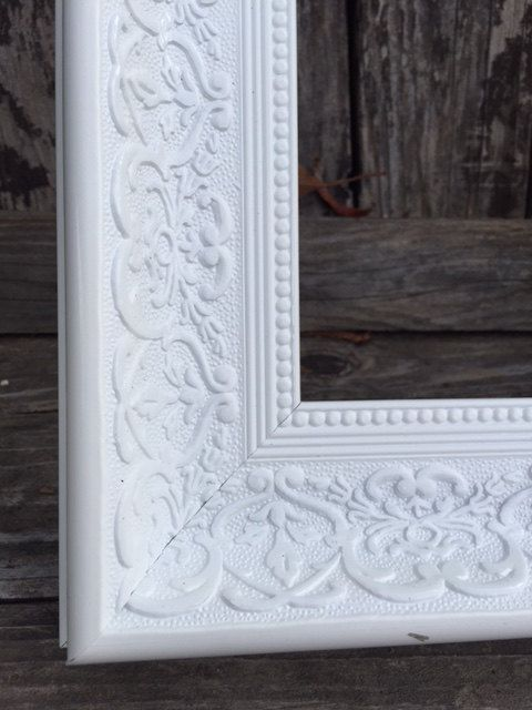Ornate Picture Frame 11x14 White Shabby Chic Distressed Glass And Backings Wedding Frame 1556 Bri Ornate Picture Frames Picture Frames Wedding Frames