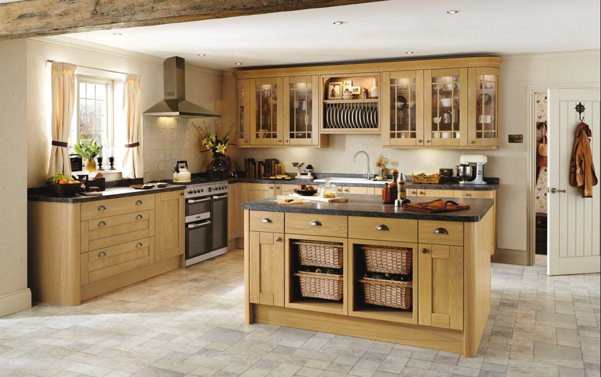 Image result for light oak kitchen   Kitchen wall cabinets ...