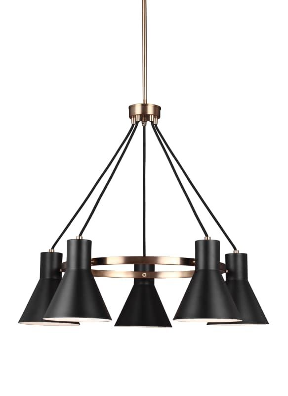 Sea gull lighting 3141305 towner 5 light 29 wide chandelier