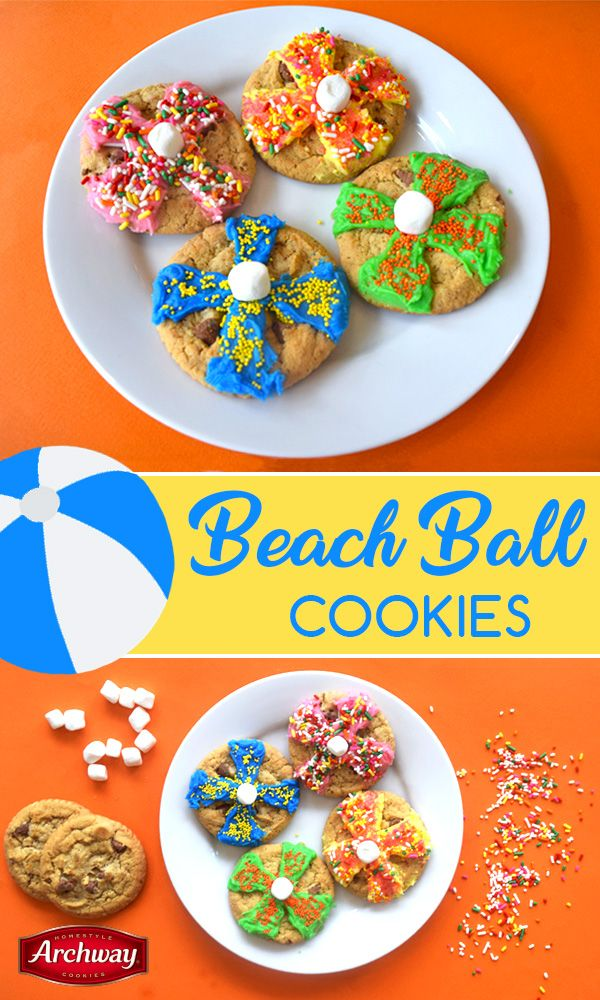 These beach ball cookies are perfect for fun in the sun or ...
