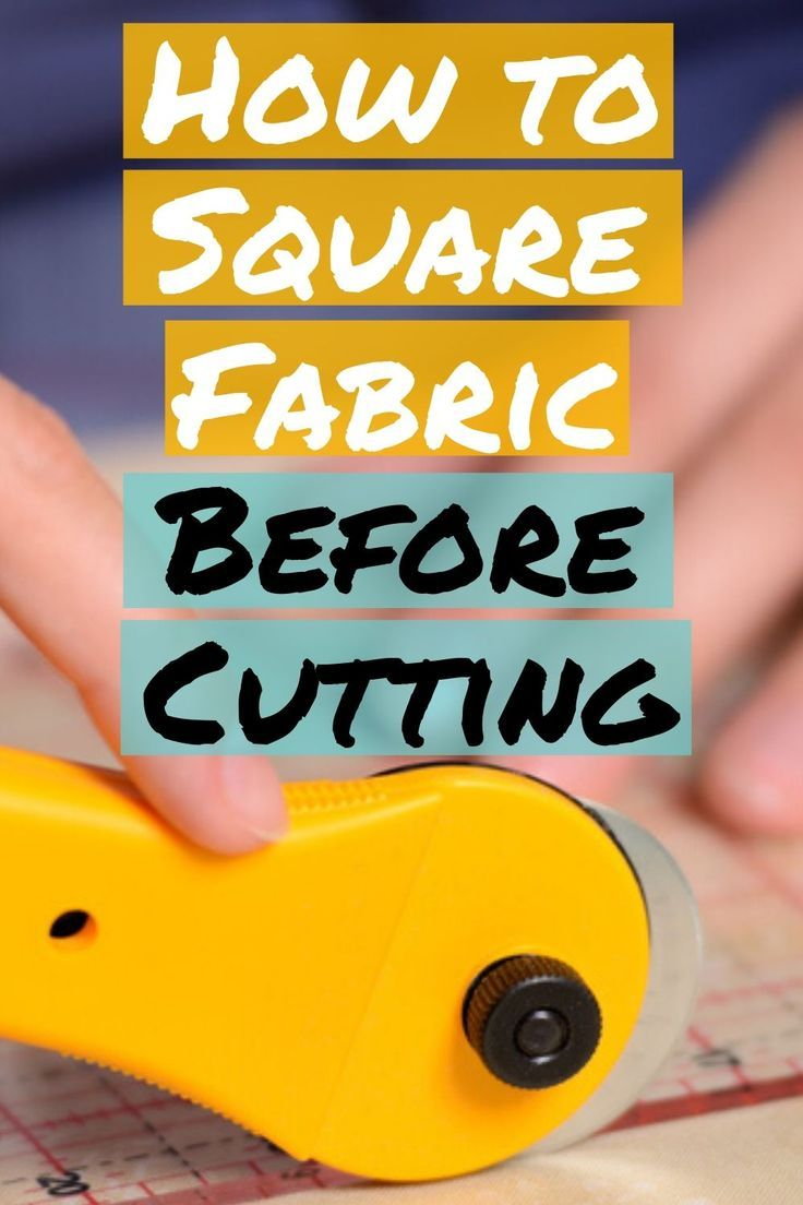 Square Up Fabric Before Every Sewing Project - The Easy Way!