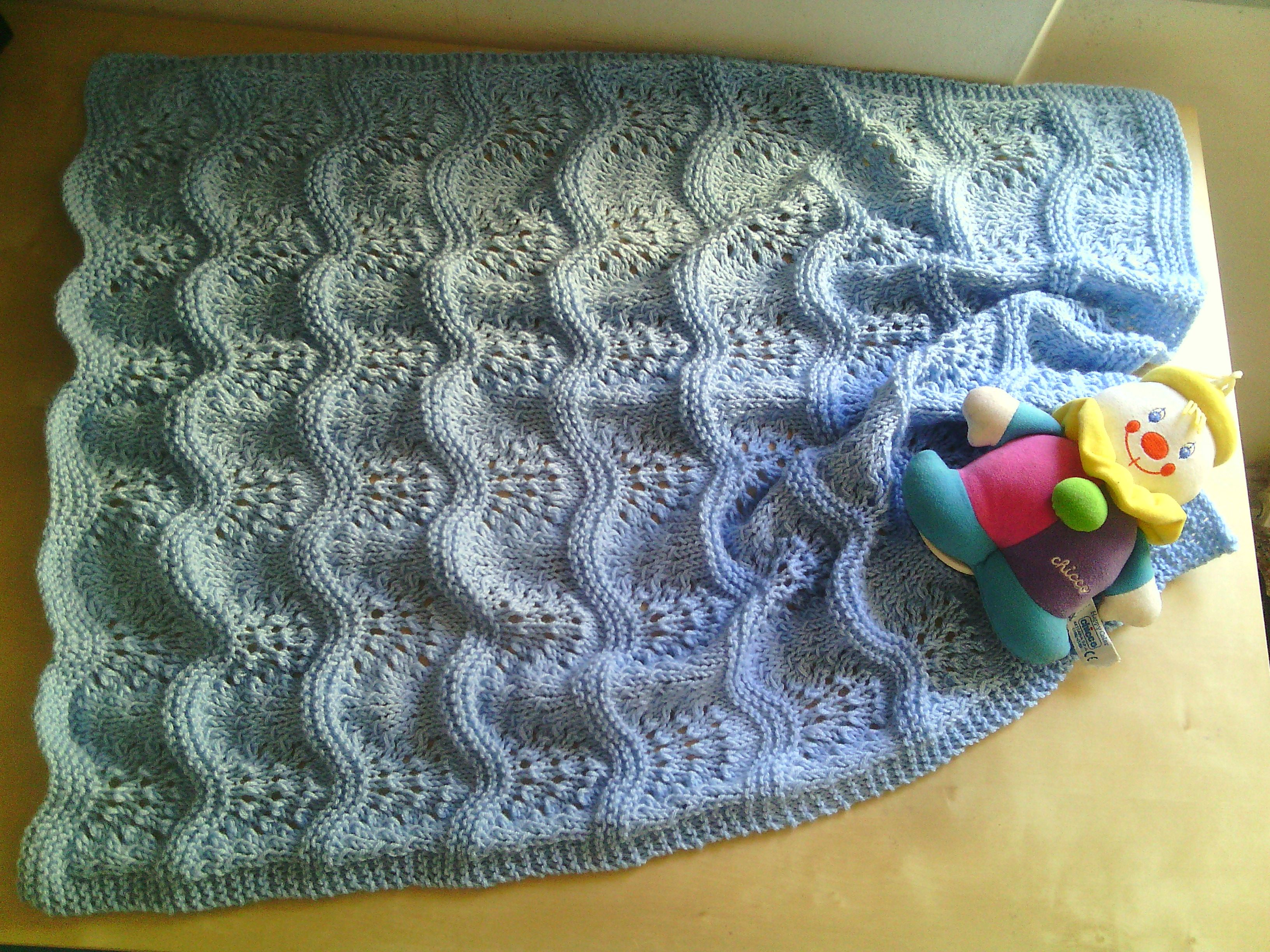 taglia 7 ben noto vendita limitata copertina in lana neonato bebè ai ferri | Motivi per ...