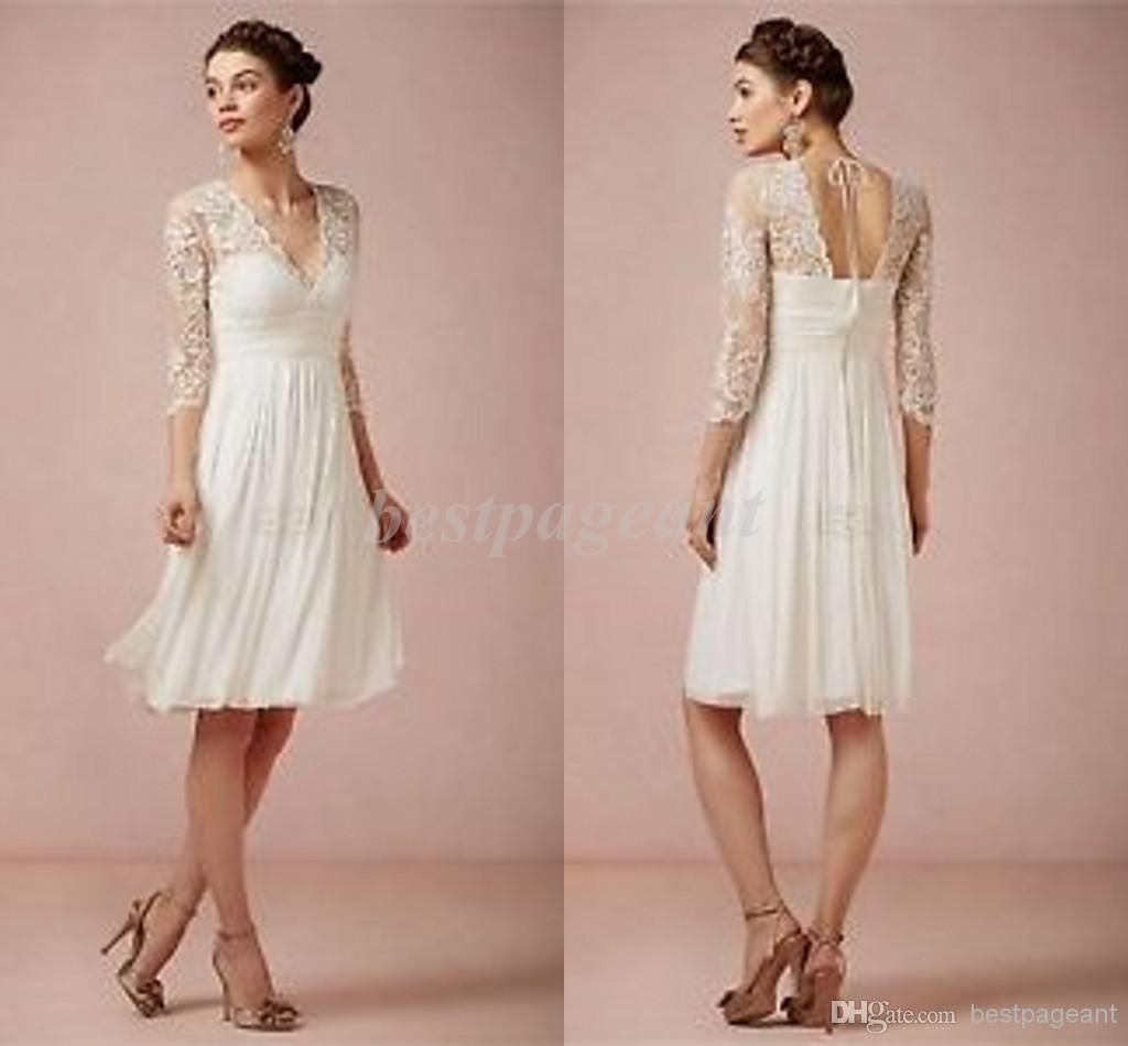 699e72f67b8 Wholesale Simple Grace Bridesmaid - Buy Simple And Elegant Column Long Poet  Sleeve Chiffon Knee-Length Bridesmaid Dress with Lace And Plaets