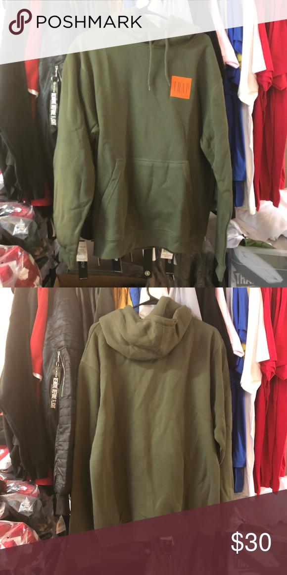 814dcafa9bbe Trap Bogo Hoodie - Olive w  Orange . Sweaters