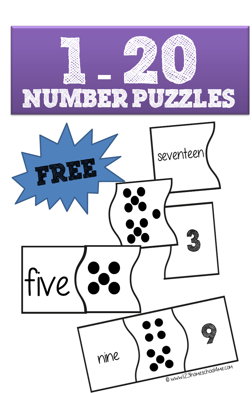 Uncategorized Preschool Puzzles Free 1 20 number puzzles are a fun way for preschool kindergarten and 1st