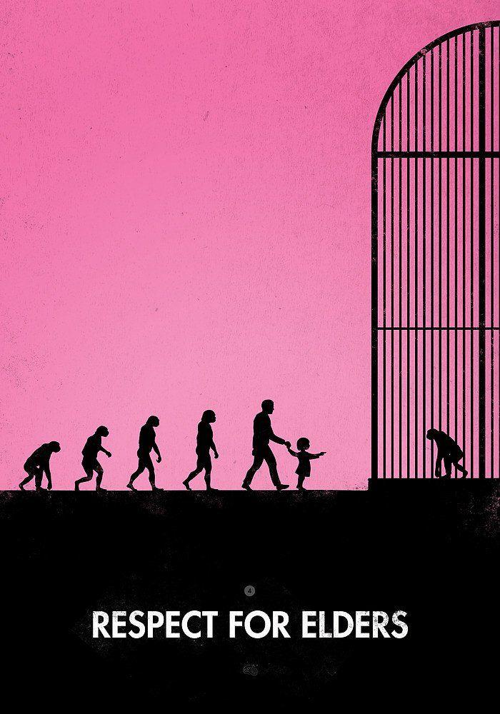 Darwin Evolution satirical illustration 20