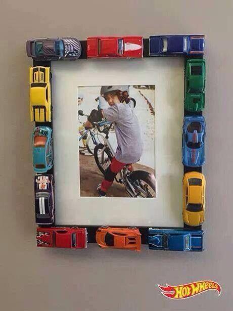 DIY Auto Bilderrahmen | Deko Für Das Kinderzimmer Kreative Ideen,  Wandfarbe, Kinderzimmer Deko Ideen