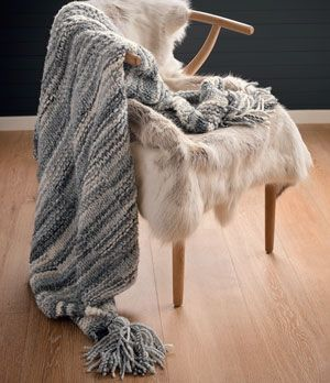 Free Knitted Throw Pattern By Patons Australia